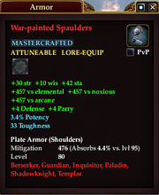War-painted Spaulders