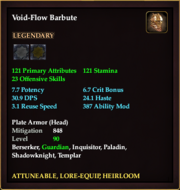 Void-Flow Barbute