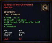 Earrings of the Gnomeland Watcher