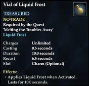 Vial of Liquid Frost