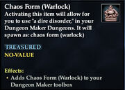 Chaos Form (Warlock)