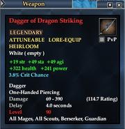 Dagger of Dragon Striking