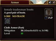 Female tradesman boots