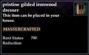 Gilded Ironwood Dresser