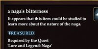 A naga's bitterness