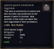 Qeynos guard ceremonial legplates