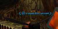 A stone hive servant