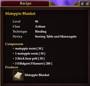 Matoppie Blanket (Recipe)