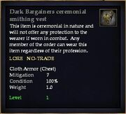 Dark Bargainers ceremonial smithing vest