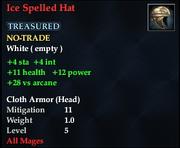 Ice Spelled Hat