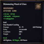 Shimmering Wand of Glass