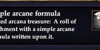 Simple arcane formula