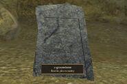 A gravestone