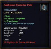Ashbound Shoulder Pads