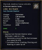 Dervish destrier horse whistle
