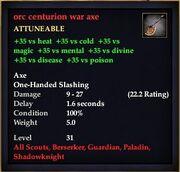 Orc centurion war axe