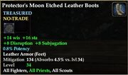 Protector's Moon Etched Leather Boots
