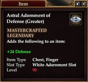 Astral Adornment of Defense (Greater)