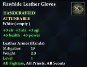 Rawhide Leather Gloves