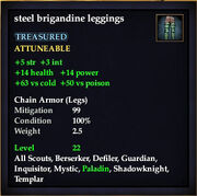 Steel brigandine leggings