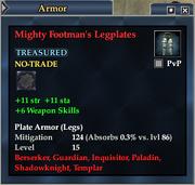 Mighty Footman's Legplates
