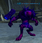 An enraged shadowbeast