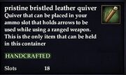 Pristine bristled leather quiver