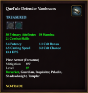Quel'ule Defender Vambraces