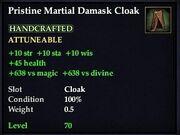 Pristine Martial Damask Cloak