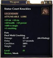 Statue Court Knuckles