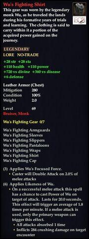Wu's Fighting Shirt