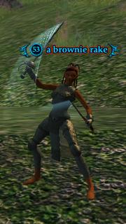 A brownie rake (heroic)