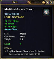 Modified Arcanic Tracer
