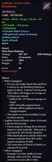 Sedition, Sword of the Bloodmoon