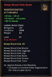 Mossy Blood Hide Boots