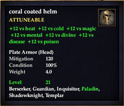 Coral Coated Helm