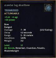 Crawler leg shortbow