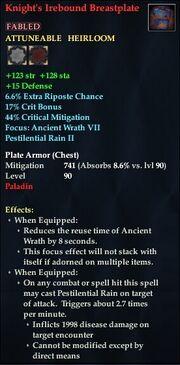Knight's Irebound Breastplate