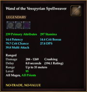 Wand of the Vesspyrian Spellweaver