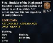 Steel Buckler of the Highguard