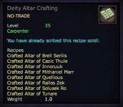 Deity Altar Crafting
