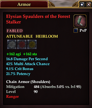 Elysian Spaulders of the Forest Stalker