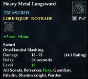 Heavy Metal Longsword