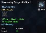 Screaming Serpent's Shell