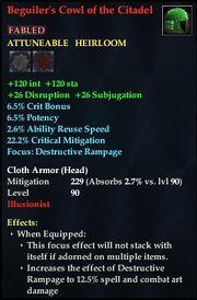 Beguiler's Cowl of the Citadel