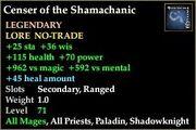 Censer of the Shamachanic