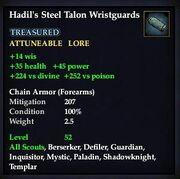 Hadil's Steel Talon Wristguards