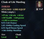Cloak of Life Warding