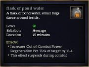 Flask of pond water (Drink)