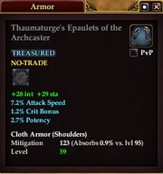 Thaumaturge's Epaulets of the Archcaster